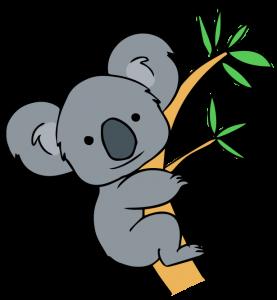 277x300 Free Clip Art Koala Forest Animals Clip Art, Free