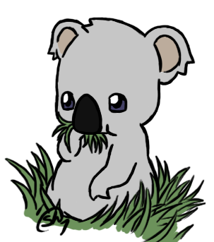 303x343 Overly Cute Koala By Lalalakirby