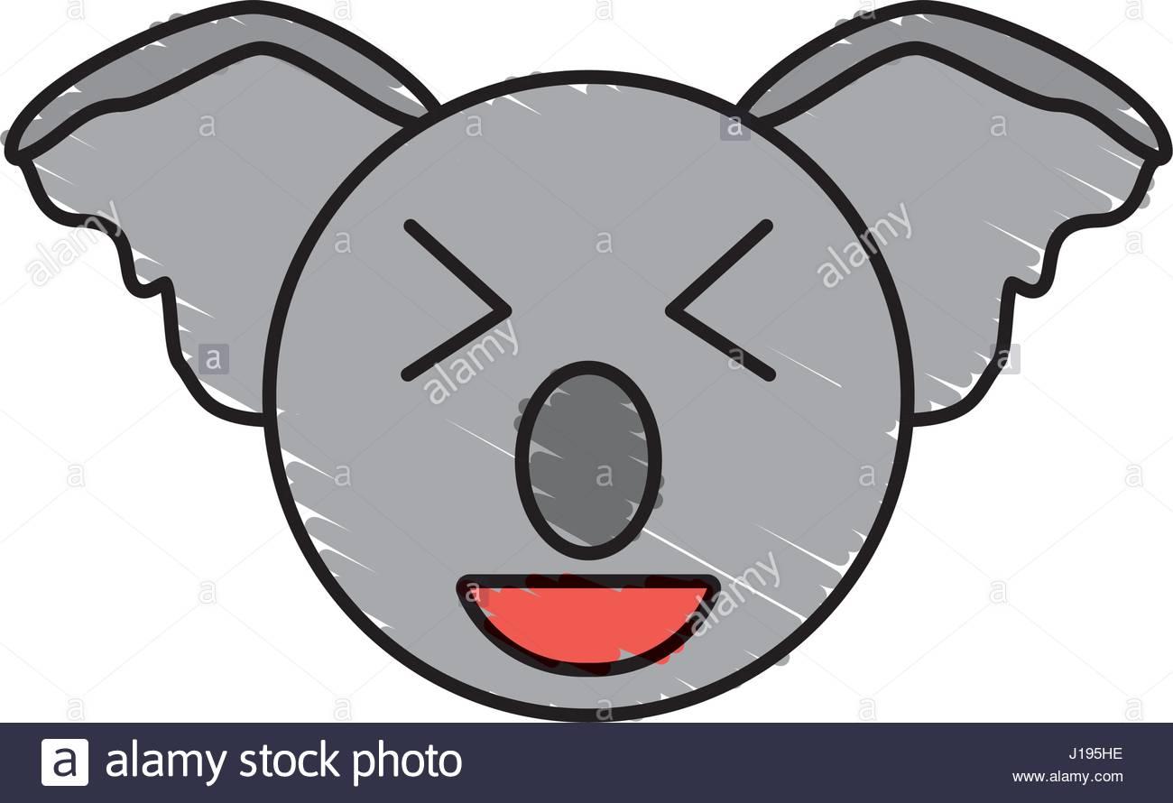 1300x890 Cute Koala Drawing Animal Stock Vector Art Amp Illustration, Vector