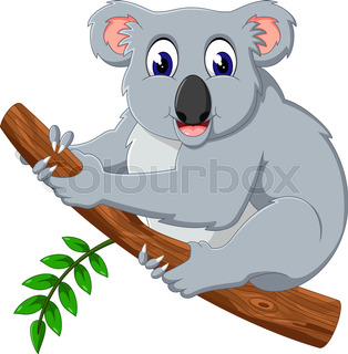 314x320 Cartoon Koala. Vector Clip Art. Farm Animals. Animal