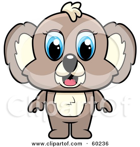 450x470 Clipart Of A Cartoon Koala Rapper Wearing A Union Jack Hat