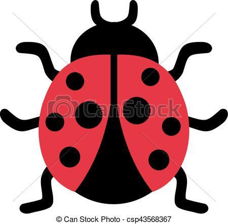 450x442 Cute Ladybug Clip Art Vector