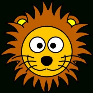 300x300 Cute Lion Face Clip Art