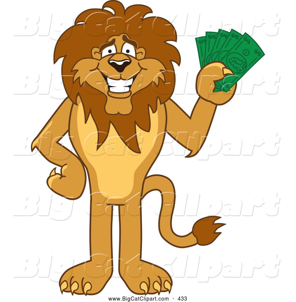 1024x1044 Big Cat Cartoon Vector Clipart of a Cute Lion Character Mascot