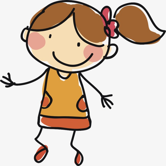 650x650 Cute Little Girl, Character, Child, Student Png Image And Clipart