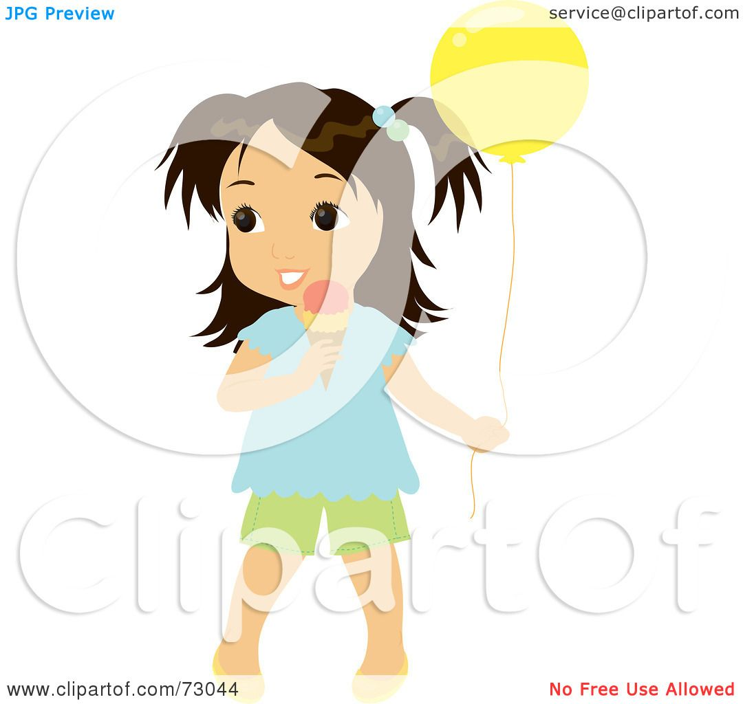 1080x1024 Royalty Free (Rf) Clipart Illustration Of A Cute Little Girl