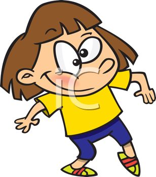 308x350 Royalty Free Clip Art Image Cartoon Of A Cute Little Girl