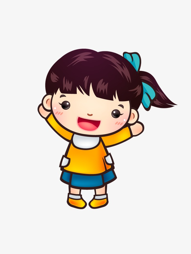 650x866 Cartoon Little Girl, Little Girl, Cartoon, Cute Little Girl Png