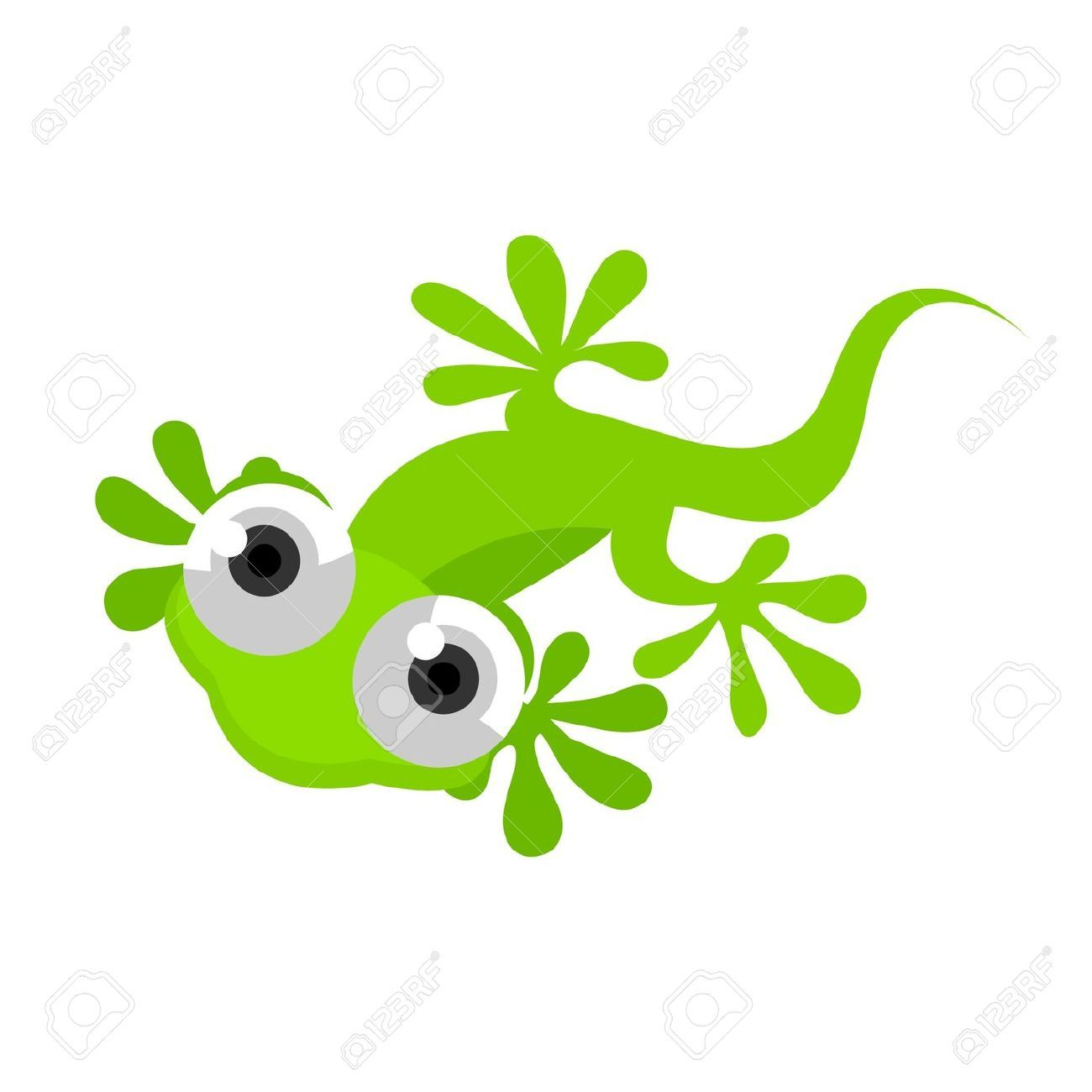 Cute Lizard Clipart