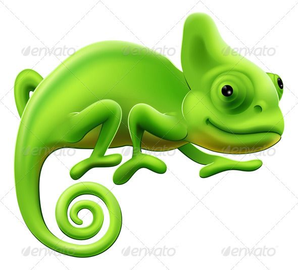 590x534 Cute Chameleon Illustration Chameleons, Lizards And Illustrations