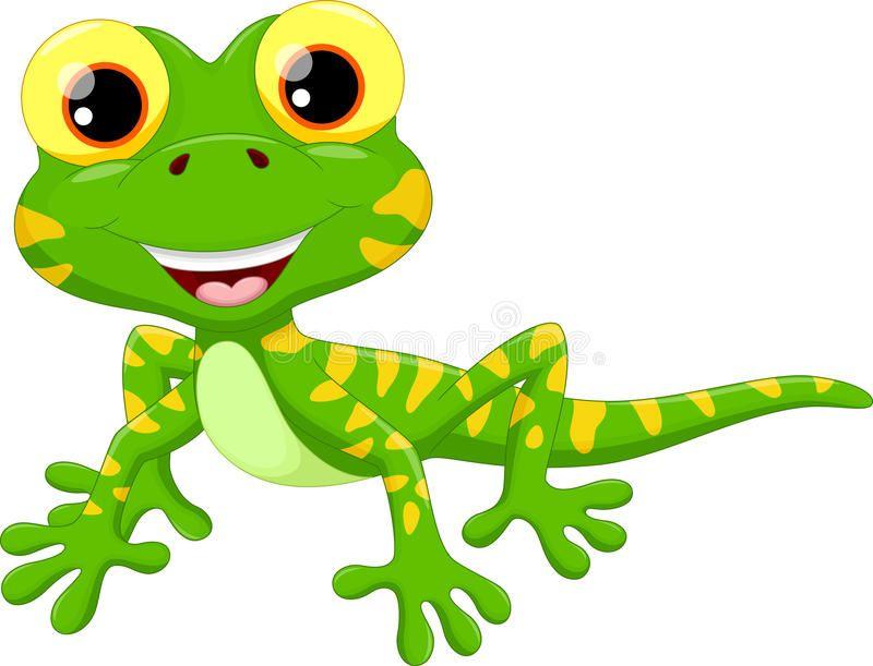 800x611 Cute Lizard Cartoon