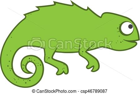 450x304 Green cute chameleon vector