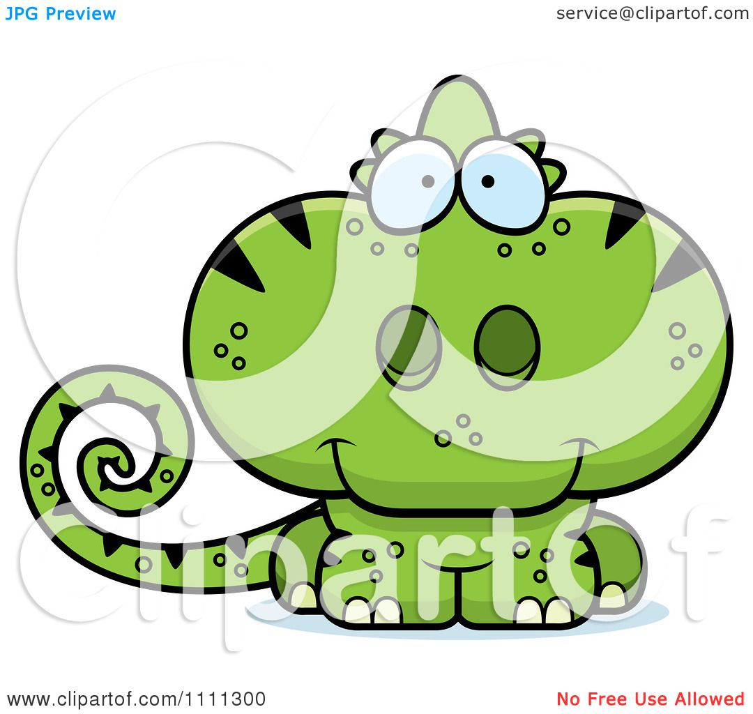 1080x1024 Clipart Cute Green Chameleon Lizard