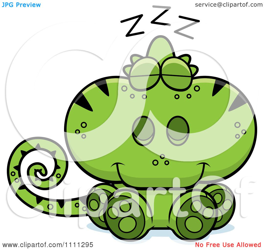 1080x1024 Clipart Cute Sleeping Green Chameleon Lizard