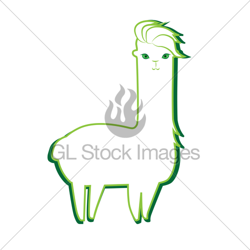 500x500 Cute Lama Character Gl Stock Images