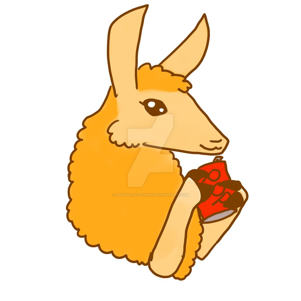 1024x1024 Cute Llama By Manga Inu Chan