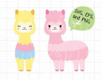 340x270 Cute Llama Svg Etsy