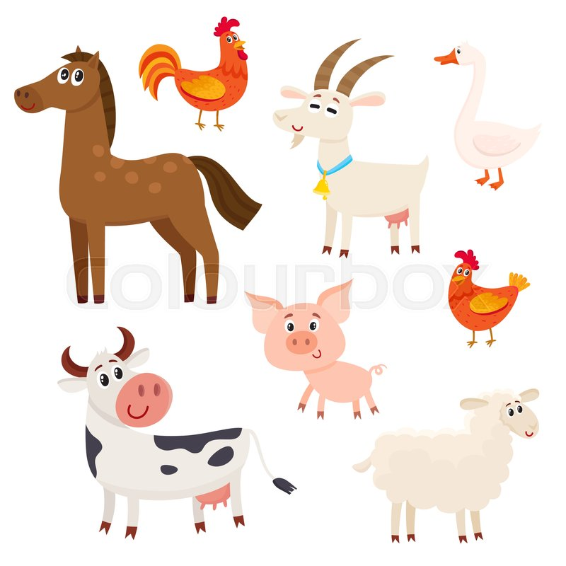 800x800 Set Of Farm Animals