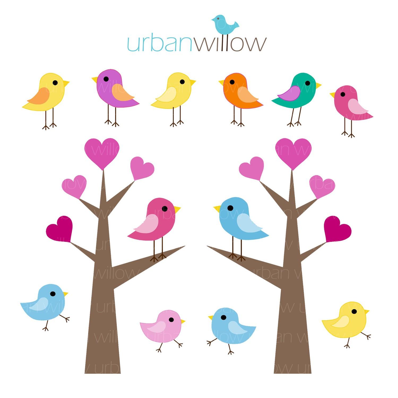 1500x1500 Cute Love Birds Clipart