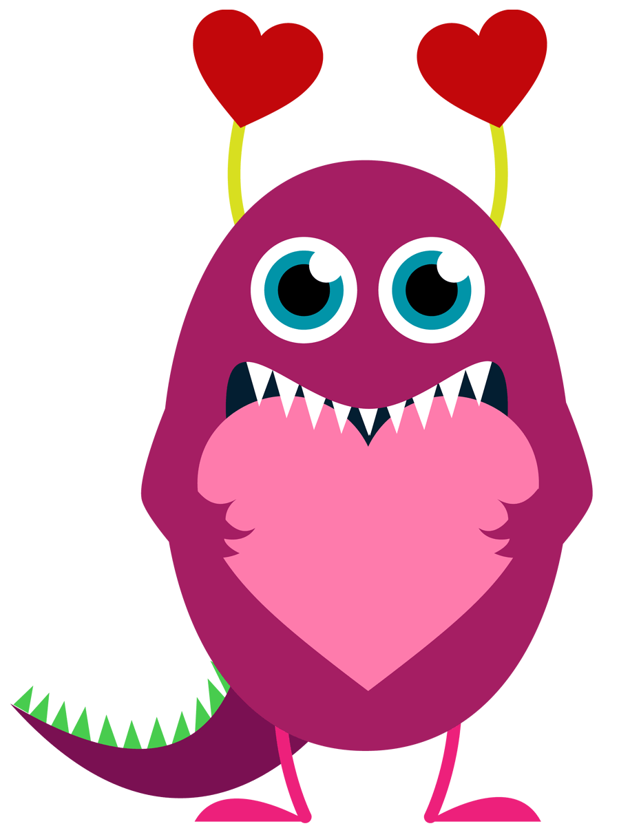 899x1200 Monster Love Cliparts