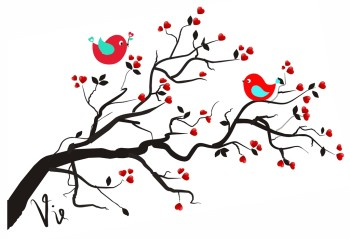 350x239 Cute Love Birds Clipart Free Images 3 2