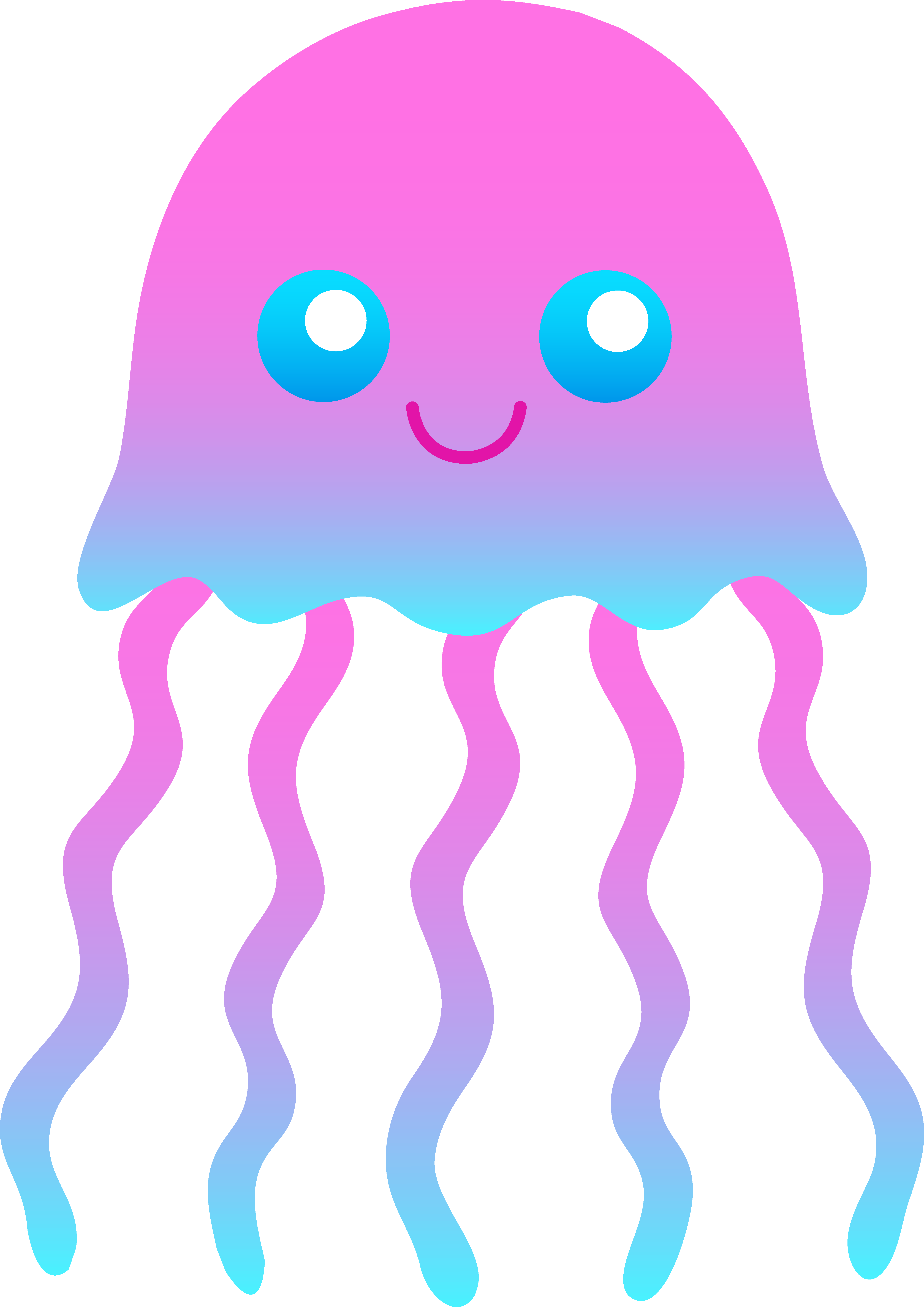 5204x7364 Little Jellyfish Clip Art