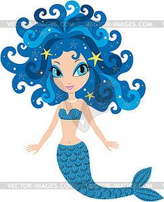 236x291 Cartoon Mermaid Cute Cartoon Mermaid With Seahorse Graphics