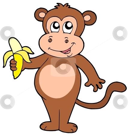 430x450 Cute Monkey Clipart