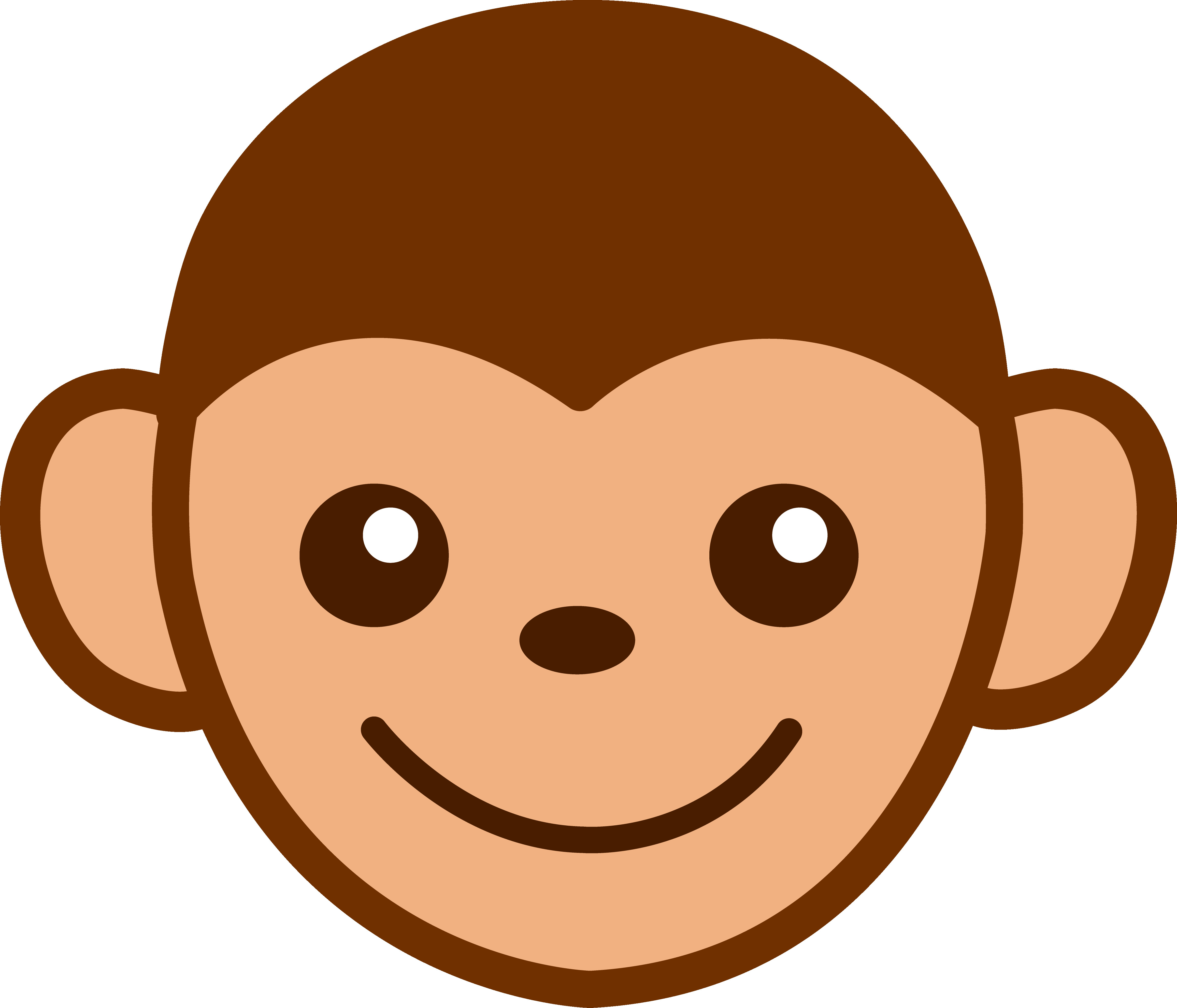 4626x3963 Cute Monkey Face Clip Art Free With Monkeys Clipart Thatswhatsup