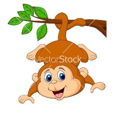 380x400 Cute Swinging Monkey Monkeys Clipart