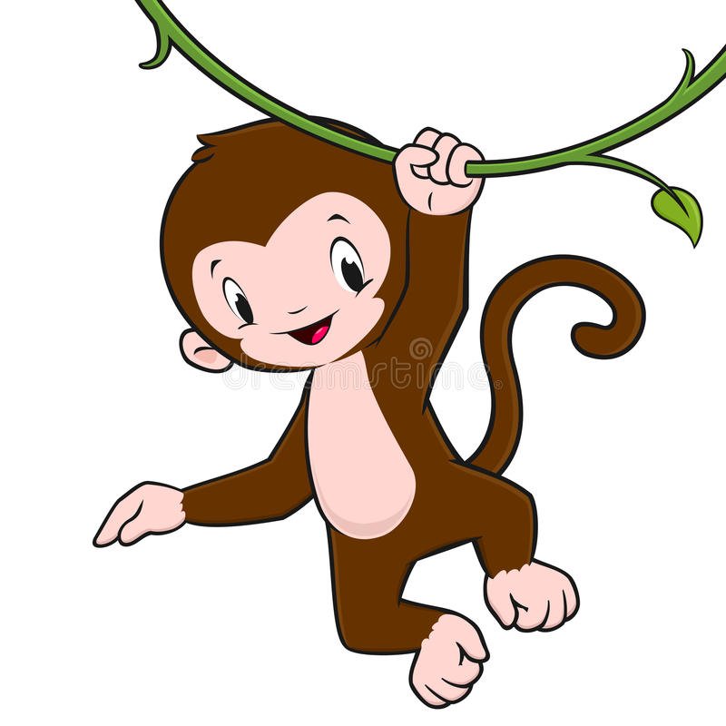 800x800 How To Draw A Monkey Swinging On A Vine Monkey Clipart Whimsical