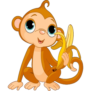 320x320 Image Of Cute Monkey Clipart