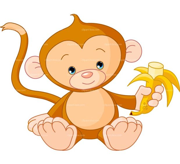 619x562 Image Of Cute Monkey Clipart