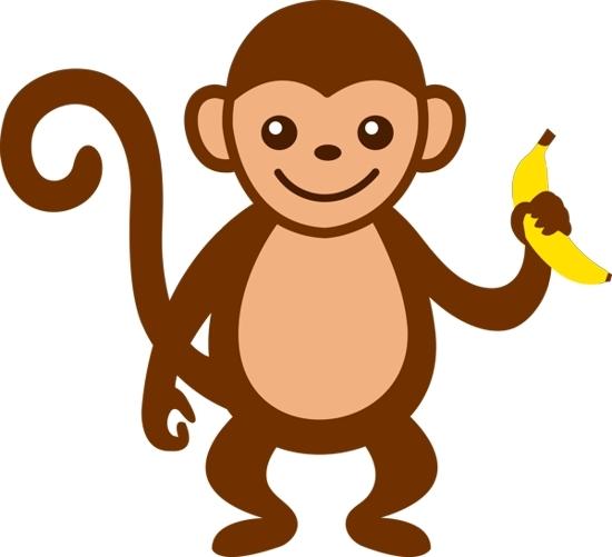 550x501 Monkey Clipart