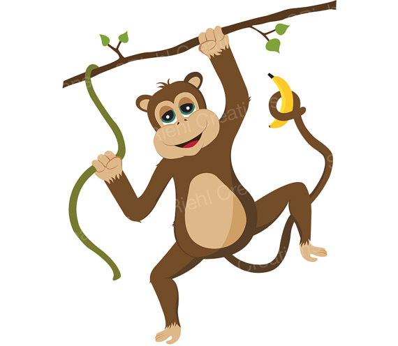 570x496 Safari Monkey Clipart