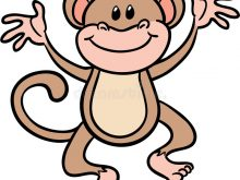 220x165 Cute Monkey Clip Art Vector Illustration Of Cartoon Cute Monkey