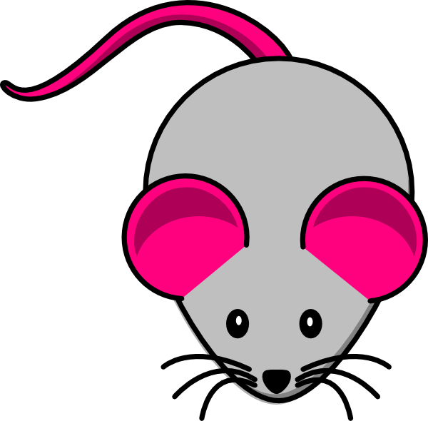 600x590 Grey Pink Mouse Clip Art