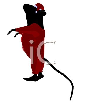 289x350 Clip Art Image Of A Cute Mouse Standing And Wearing Santa Pajamas