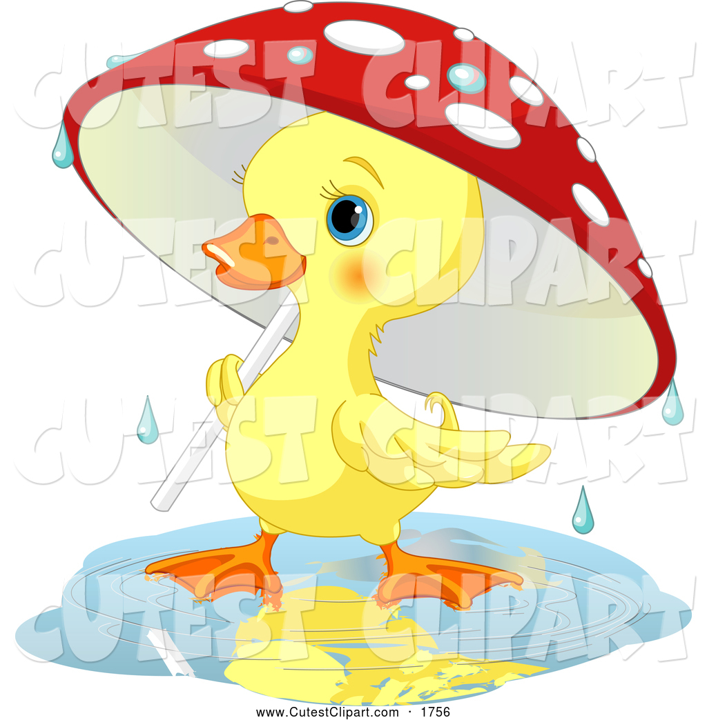 1024x1044 Vector Clip Art Of A Friendly Cute Yellow Duckling Strolling Under