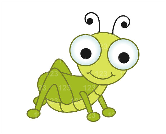 570x462 Cute Cricket Insect Clipart
