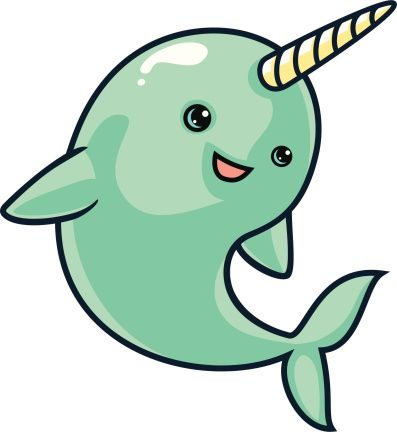 397x432 Narwhal Clipart