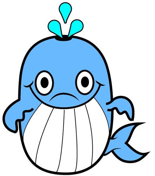 500x565 Cool Cartoon Drawings Whales