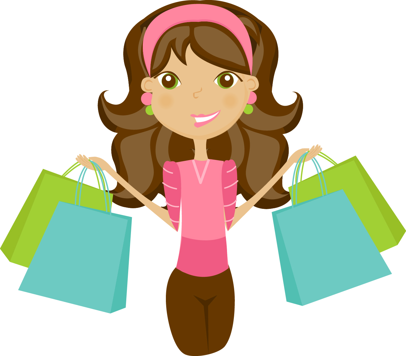 1302x1142 Shopping Cartoon Clipart