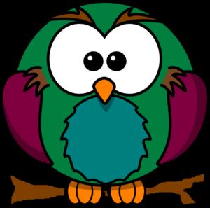 300x297 Cute Owl On Branch 2 Clip Art