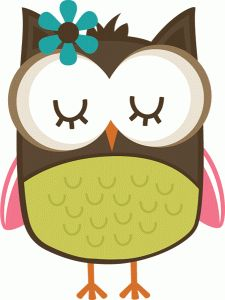 225x300 Girl With Owl Clipart