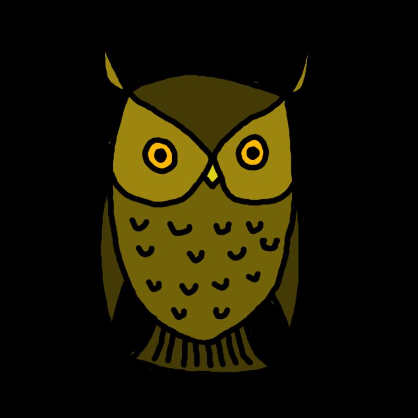 830x830 Owl Clip Art