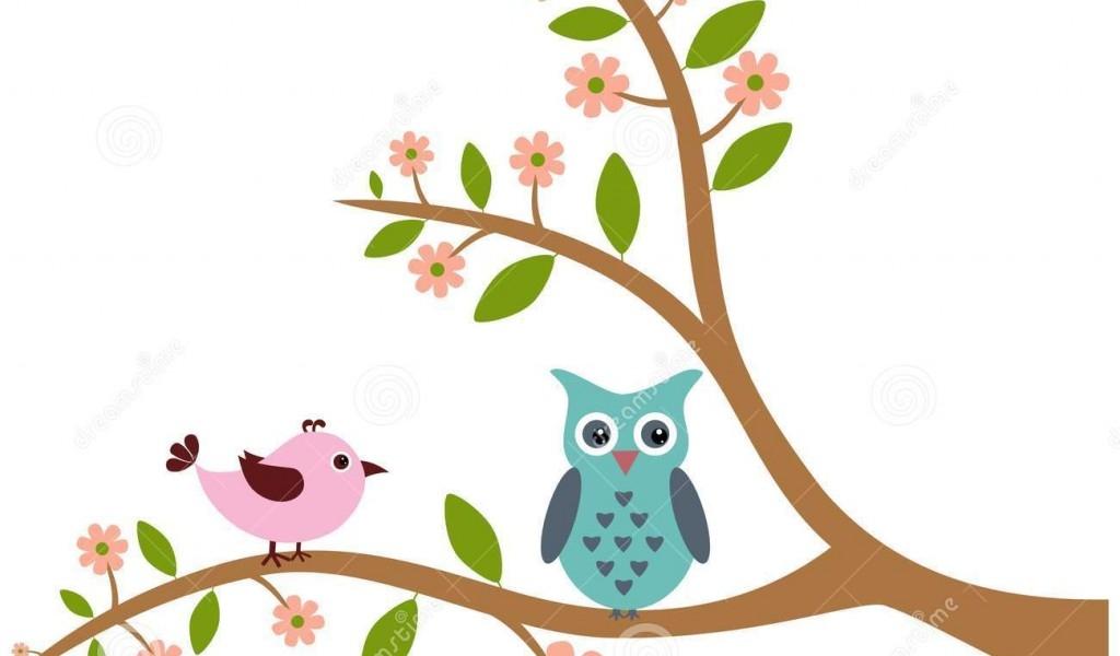 1024x600 Owl In Tree Clipart Clip