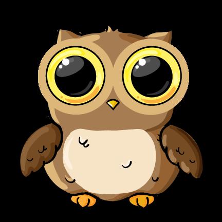 432x432 Cute Cartoon Owl Clip Art Clipart Panda