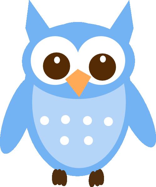 498x595 Baby Blue Owl Clip Art