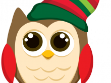 220x165 Clipart Christmas Owls Christmas Owls Clipart Set Cute Owl Clip